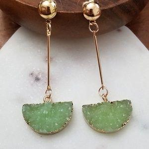 Jewelry - 💎💎 Druzy Drop Earrings - Green